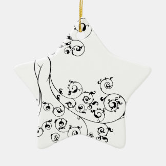 Wedding Gown Bride Silhouette Christmas Ornament