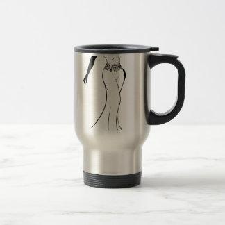 Wedding Gown Bride Silhouette Travel Mug