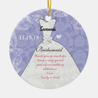 Wedding Gown Bridesmaid Butterfly Choose Color Christmas Ornament