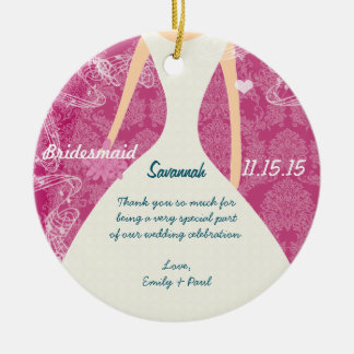 Wedding Gown Bridesmaid Choose Colors Christmas Ornament