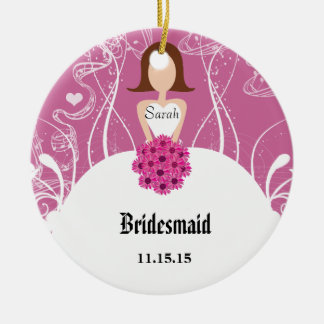 Wedding Gown Bridesmaid Wedding Christmas Ornament