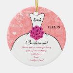 Wedding Gown Bridesmaid Wedding- You Choose Colour Christmas Ornament