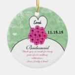Wedding Gown Bridesmaid Wedding- You Choose Colour Christmas Ornaments