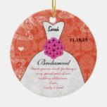 Wedding Gown Bridesmaid Wedding- You Choose Colour Ornaments
