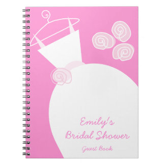 Wedding Gown Pink 'Bridal Shower' notebook