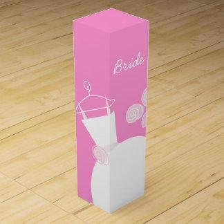 Wedding Gown Pink Bride wine box