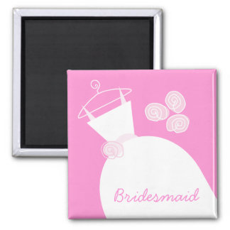 Wedding Gown Pink 'Bridesmaid' Magnet