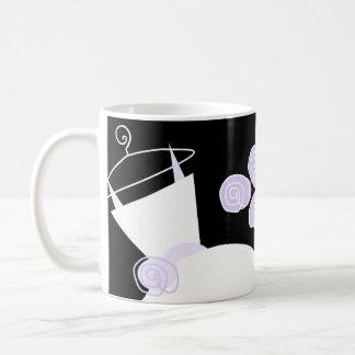 Wedding Gown Purple 'Bridal Shower' mug black