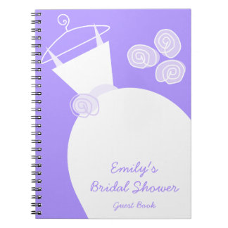 Wedding Gown Purple 'Bridal Shower' notebook