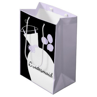 Wedding Gown Purple Bridesmaid black pastel medium Medium Gift Bag