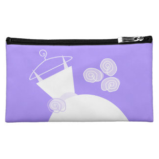 Wedding Gown Purple cosmetic bag