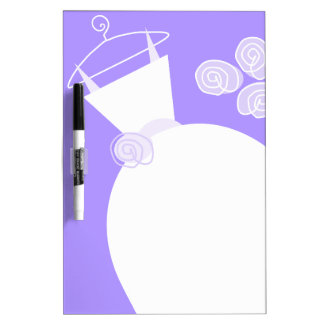 Wedding Gown Purple dry erase board