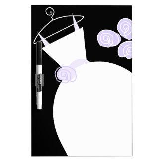 Wedding Gown Purple dry erase board black