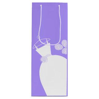 Wedding Gown Purple gift bag wine