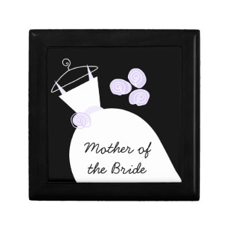 Wedding Gown Purple 'Mother of the Bride' black Gift Box