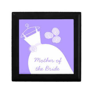 Wedding Gown Purple 'Mother of the Bride' Gift Box