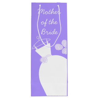 Wedding Gown Purple Mother of the Bride wine Wine Gift Bag