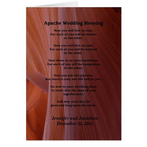 Wedding Greeting Card Apache Blessing Feel No Rain Cards