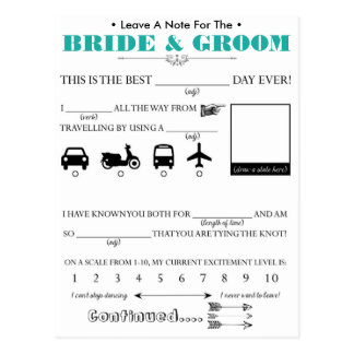 Wedding Guest Advice Card