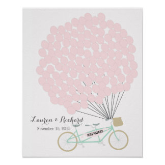 Wedding Guest Book Alternative with cycle Poster