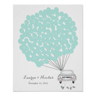 Wedding Guest Book Alternative with sign balloons