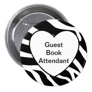 Wedding Guest Book Attendant Pin