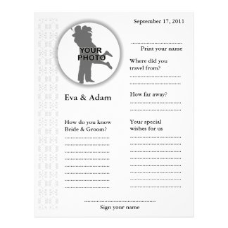 Wedding Guest Book Attended Vertical Classic 21.5 Cm X 28 Cm Flyer