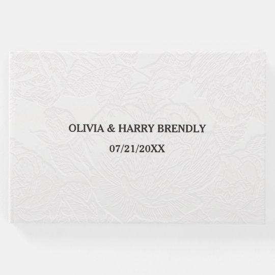 Wedding Guest Book - Elegant White Floral