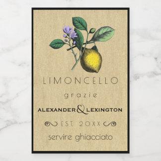 Wedding Guest Favor Limoncello DIY Food Label