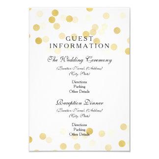 Wedding Guest Information Gold Foil Glitter Lights 9 Cm X 13 Cm Invitation Card