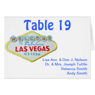 Wedding Guest Seating and Table Numbers Note Card