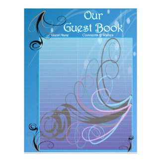 Wedding Guestbook Pages Custom Flyer