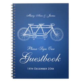 Wedding Guestbook Tandem Bike Blue Notebooks