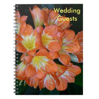 Wedding Guests Orange Flower Notebook