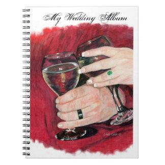 Wedding Hands Photo Album Spiral Notebook