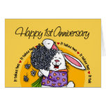 Wedding - Happy 1st Anniversary Cards
