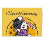 Wedding - Happy 1st Anniversary Greeting Card