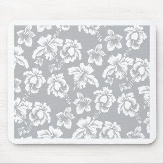 Wedding Hawaiian White Flower Mouse Pad