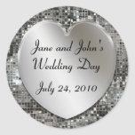 Wedding Heart And Sequins Stickers
