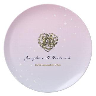 Wedding Heart Plate