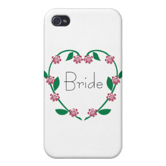 Wedding Heart Wreath Cover For iPhone 4