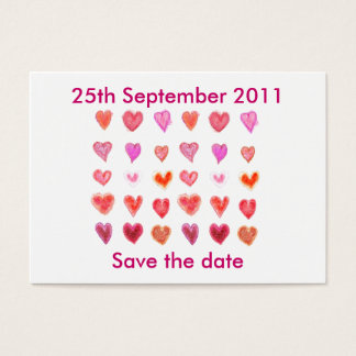 Wedding hearts ... Save the date