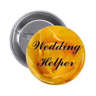 Wedding Helper 6 Cm Round Badge