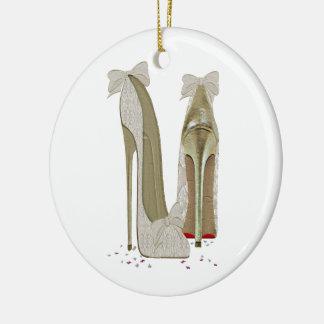 Wedding High Heels Art Christmas Ornament