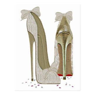 Wedding High Heels Paper Products Postcard