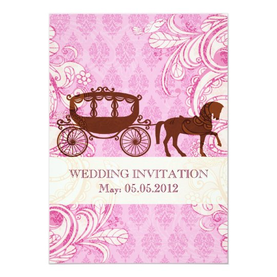 Wedding Horse & Carriage - Wedding Invite