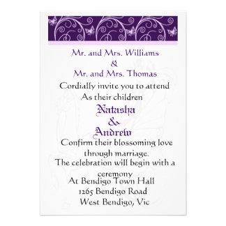 Wedding horse courage and flora wedding invitation