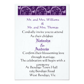 "Wedding horse courage and flora wedding invitation 5"" x 7"" invitation card"
