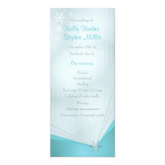 Wedding ice turquoise snowflake wedding program
