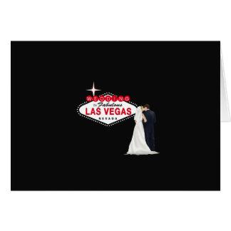 Wedding In Fabulous Las Vegas Card, B & G Greeting Card
